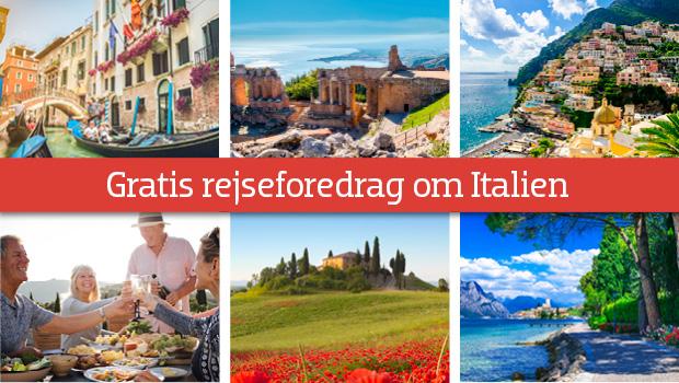 Gratis rejseforedrag om Italien
