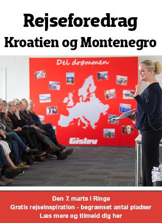 Gratis rejseforedrag om Kroatien og Montenegro