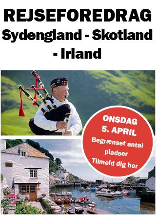 Rejseforedrag om Sydengland, Skotland og Irland