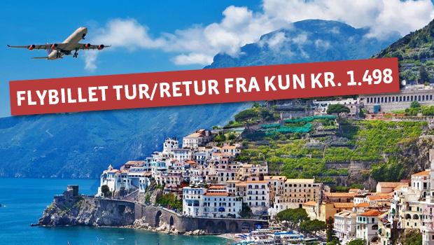 Flybilletter til Pisa, Napoli og Sardinien