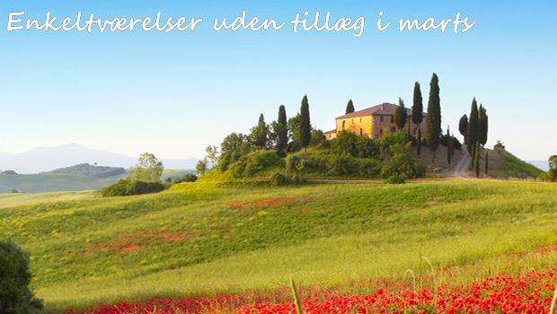 Enkeltværelser uden tillæg i Toscana