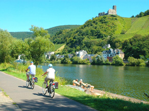 Mosel Cyklister Moselfloden