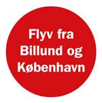 Fly fra Billund og København