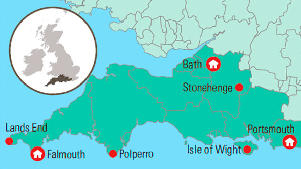 Sydengland Cornwall Bath Med Gislev Rejser
