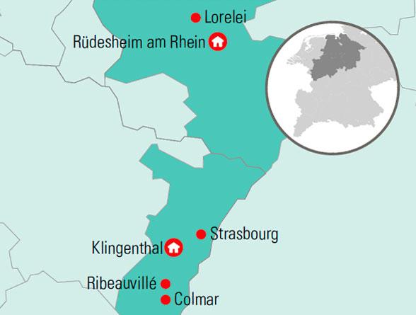 Rejse Til Alsace Og Rhinen Skon Kombination Af Blomstrende