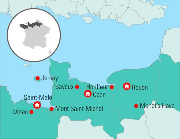 Rundrejse I Normandiet Ferie I Frankrig Med Mont Saint Michel