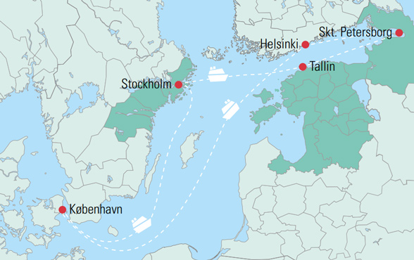 Krydstogt Pa Ostersoen Til Skt Petersborg Med Luksusskib