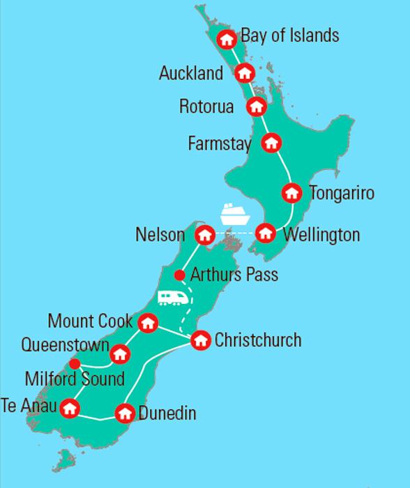 New Zealand Rundrejse Med Dansk Rejseleder En Storslaet Tur