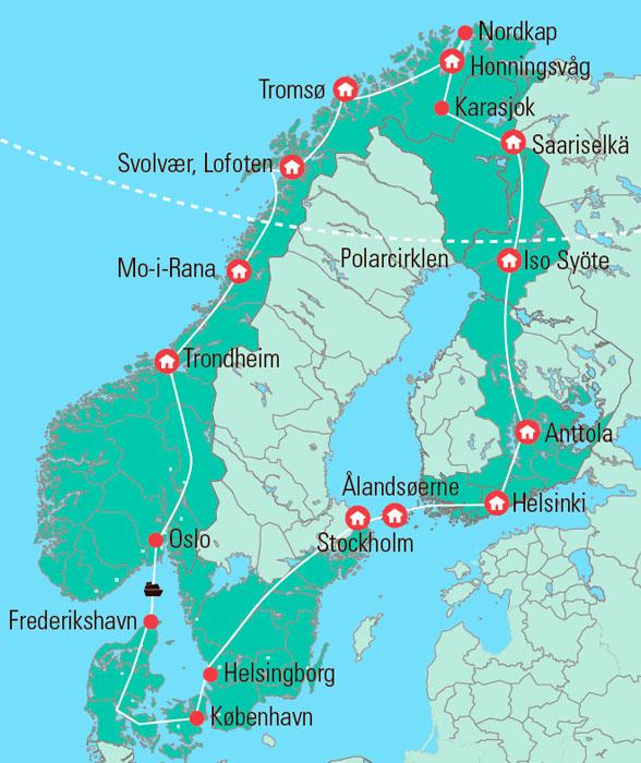 Nordkap Rejse Uforglemmelige Hojdepunkter I 5 Bus Gislev Rejser