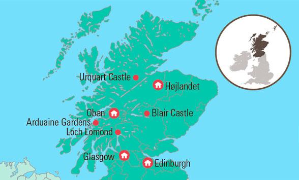 Flyrejse Til Skotland Med Flotte Naturoplevelser Og Meget Inkluderet