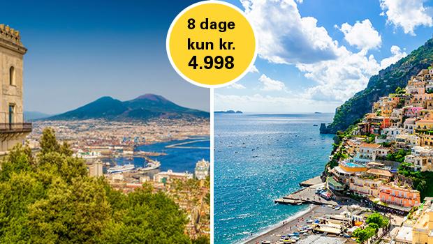 Sorrento-halvøen med fly og hotel