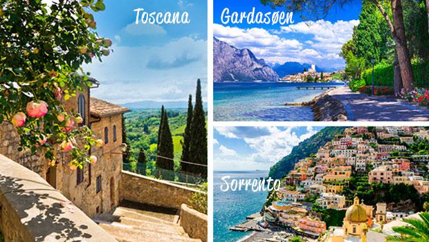 Flybilletter til Italien fra kun kr. 2.498 t/r
