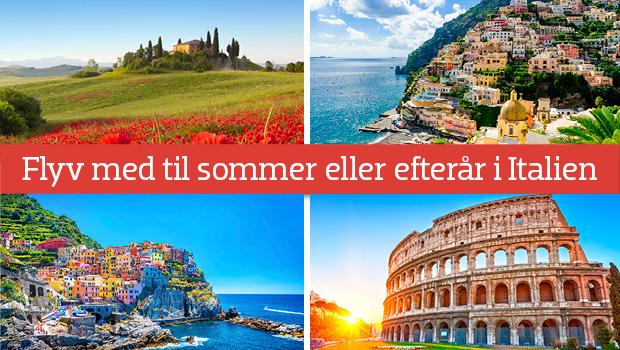 Flyrejser til Italien