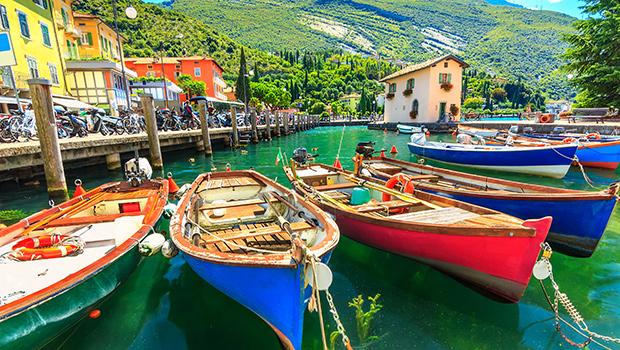 Sommersol ved Gardasøen