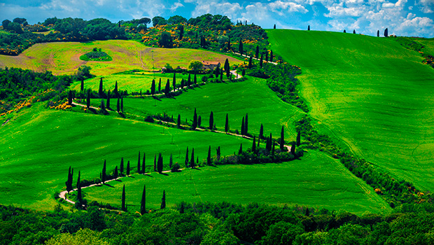 Toscanas og Chiantis bløde bakker