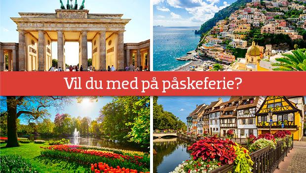 Hvor skal du hen på ferie i påsken?