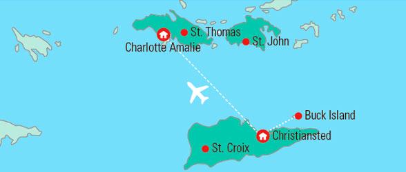dansk vestindiske øer kort De Vestindiske Øer og New York   Gislev Rejser