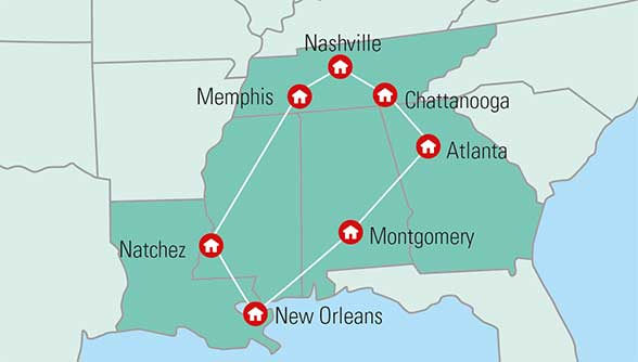 Rundrejse I Sydstaterne En Populaer Pakkerejse Til Usa
